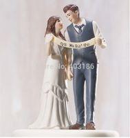 2014 New Free Shipping 5 Pcs Indie Style Wedding Couple Figurine Cake Topper Wedding Decoration