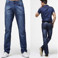 2014 men denim jeans man brand pants Leisure&Casual Zipper fly Straight Cotton Men Jeans Men promotion Comfortable fit trousers