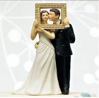 2014 New Free Shipping 5 Pcs Picture Perfect Wedding Bride & Groom Couple Figurine Cake Topper Wedding Decoration