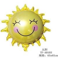 Sunflower decorative aluminum foil smiley birthday party children's toys wholesale new balloon