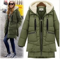 goose down jacket!3 colors 2014 Fashion down coat warm Winter jacket clothes women thick jackets outwear Parka Overcoat Tops