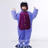 The new strange play costumes cute purple donkey hooded fashion children unisex free shipping pajamas