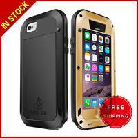 LOVE MEI Metal Ultra-thin Waterproof Dustproof Shockproof Powerful Protective Case for iPhone 6