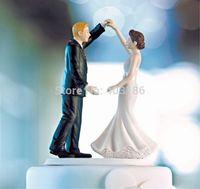 2014 New Free Shipping 5 Pcs Dancing the Night Away Wedding Couple Figurine Cake Topper Wedding Decoration