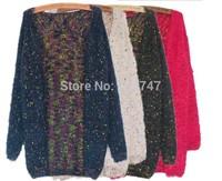 2014 Korean version of the new mining yarn fabrics loose version of Women in Long cardigan sweater knit cardigan sweater women