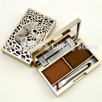 4PCS 8 colors Leopard Eyebrow Platte Set With Mini Makeup Brush Eye Brow Powder Eye Beauty Tool