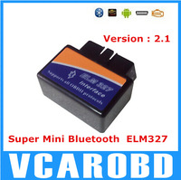 2014 High quality Super MINI ELM327 Bluetooth OBD2 V2.1 Smart Car Diagnostic tool Interface ELM 327 Wireless