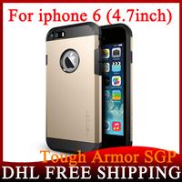 100Pcs/lot 13 Colors SGP Spigen Tough Armor Case For iPhone 6 4.7inch Waterproof TPU Back Cover PC