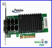 10000Mbps Ethernet Controller Fiber Optical Interface Card Server Application Adapter Black Heat Sinks
