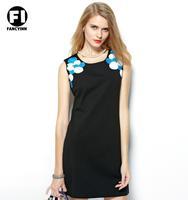 Fancyinn European Original T-shirt Rome Cotton Vest Dress Europe And The United Brand Polka Dot Embroidered Slim Dress