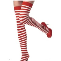 1 pair Free Shipping Fashion Colorful Striped Cotton Over Knee Sexy Girls Stockings With Foot Women Stockings Christmas Gift