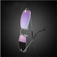 2015 Wholeslae 5pcs/lot Ultralight Memory Titanium Alloy Rimless Glasses Frame Myopia Prescription Glasses Optical Eyeglasses