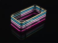 2014 Hot Sale Rushed Phone Cases Hippocampal Buckle Aluminium Metal Bumper For Iphone6 Plus 5.5 Inch Slim Frame 10pcs