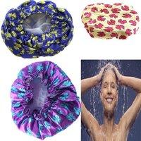 1Pcs Waterproof Shower Cap,Beauty Care Accessories Shampoo Bath Shower Caps, Hotel Shower Hat ,6 Colors Bath Hats ay672823