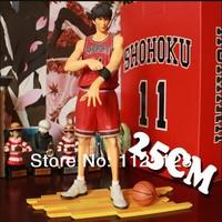 Free Shipping Japanese Anime Slam Dunk Rukawa Kaede 25cm PVC Action Figures Dolls Model Boys Toys Doll Kids gift