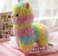 Rainbow alpacasso sheep animal stuffed doll  tuba mud horse  plush toys