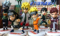 Free Shipping Lots 6 pcs Naruto Cute PVC Action & Toy Figures Model Doll