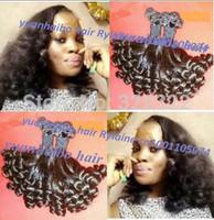 Best 6a quality 3pcs/lot 1b# brazilian aunty funmi hair tip curl for black women cheap price free shipping