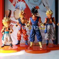 Dragon Ball Goku Monkey King Dahl Gotenks Super Saiyan 4pcs PVC Action Figure Model Collection Toy Gift