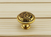 Vintage Antique Cabinet Drawer Pulls Door Handles - Art Deco (D:30mm)