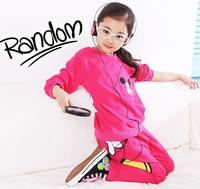 Retail-Girls kids child minnie sport suit set long sleeve suit child clothing