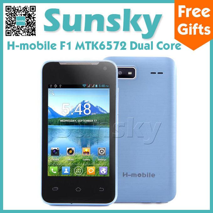 Original H-mobile F1 MTK6572 Dual Core Cell Phone Dual Camera Dual Sim Android 4.2 3.5inch Screen Bluetooth WIFI GSM Smartphone(China (Mainland))