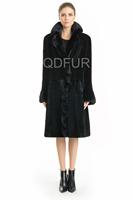2014 Women's Luxury Genuine Real Mink Fur Coat Jacket Female Fur Outerwear Long Garment  QD70749