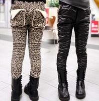 Girls trousers Qiu dong new thickening joker fashion leisure leopard grain  K42.9