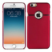 High Quality Pc Luxury Hard Back Skin Cover Case for Iphone 6 4.7'' Phone Red Black Blue Pink White