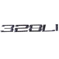 2 pcs whole sale 328Li Carbon Fiber Trunk Letters Badge Emblem Sticker