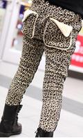 Girls trousers Qiu dong new thickening joker fashion leisure leopard grain  K10.3
