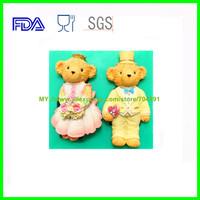 Popular Cake silicone mold Teddy Bear Wedding Fondant  Silicone Molds