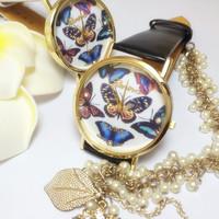 2014 New Brand Luxury butterfly Watch Women Ladies Fashion Dress Quartz Wristwatches Women watches TD0218