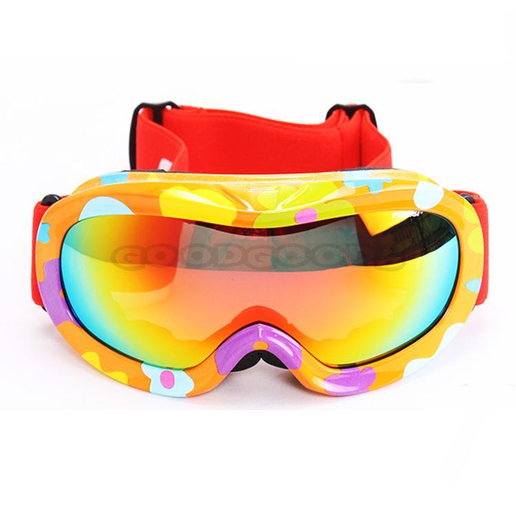 Free Sample!New POLISI Children Ski Snow Polarized Goggles Double Lens Anti-Fog Kids Snowmobil ...
