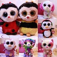 Newest Big Eye Bee  Ladybug  cat  hedgehog  Christmas Penguin  stuffed animals  plush toys for children  doll  gift