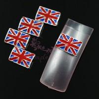 20pcs/lot 6x10MM UK Flag Alloy Metal 3D DIY Design Salon Nail Art Acrylic UV Gel Tips Decorations Craft Decor Accessories