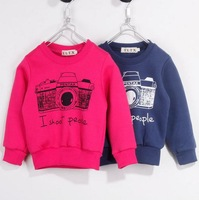 Baby boy girl sweater jacket blue rose red long sleeve camera sweater jacket kids boys jacket children sweater jackets 5pcs/lot
