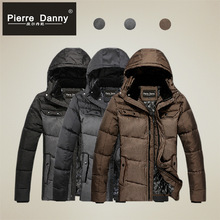 2014 Explosion Models Warm Winter Clothes Men Down Thick Cotton Hooded Jacket