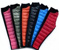 Children fall/winter cold wind warm down cotton trousers Pleuche warm add wool trousers K9.7