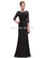 2014 Special Offer Vestido De Renda Vestido De Festa Elegant Long Sleeve Lace Women's Evening Dress Formal Dresses 2014_bridalk