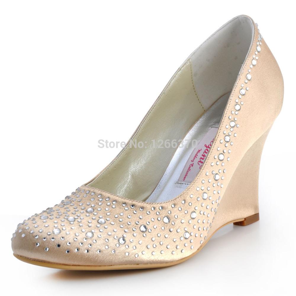 Ivory Wedge Wedding Shoes Promotion Shop For Promotional Ivory Wedge