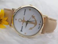 New Fashion Quartz Watches Fashion Leather casual Watch with Anchor Women Dress Watch fashion Quartz Watches TD0255