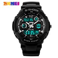 SKMEI Men Sports Watches Digital Watch 2 Time Zone Quartz Chronograph Dive relogio masculino LED Outdoor Dress Wristwatches