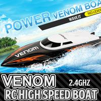 2014 VENOM001 RC boat remote control speedboat summer boat toys with 2.4Ghz transmitter super fast boat for children
