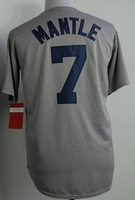 Cheap Sale,#7 Mickey Mantle Men's Gray 2014 New Baseball Jerseys wholesale