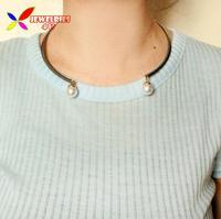 2014 new fashion hit-hop club accessories gun black alloy faux pearl dangle false collar choker necklace for women colliers