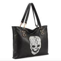 Wholesale New Design Women Bag Fashion High Quality Women Messenger Bags  Punk Skull Women's Handbags Shoulder Bag
