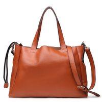 Brand Brief Vintage Genuine Leather Handbags for Women Bolsas Femininas Ladies Shoulder Messenger bags Coffee Winered Yellow