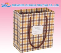 promotional recycled paper bag with logo print