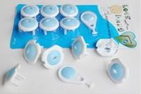 New 2014 6pcs Electric Socket Outlet Plug Safe Lock Cover for Baby Kids Safety